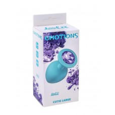 АНАЛЬНАЯ ПРОБКА EMOTIONS CUTIE LARGE TURQUOISE LIGHT PURPLE CRYSTAL